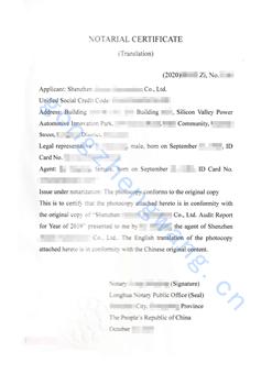 审计报告公证书(图2)